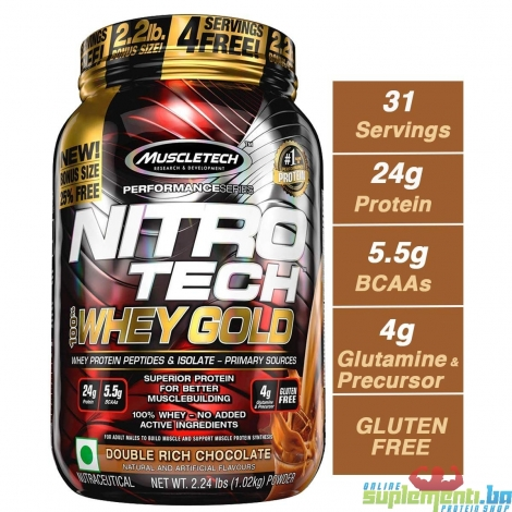 MT NITRO-TECH 100% WHEY GOLD 1.1kg