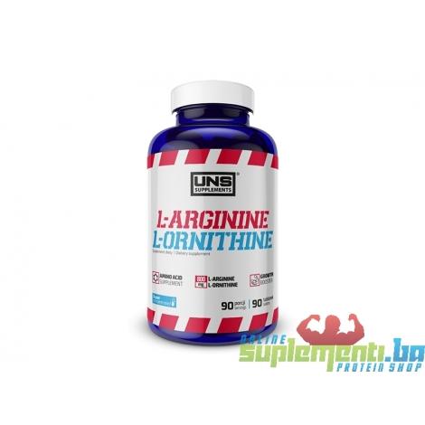 UNS ARGININE & L-ORNITHINE 90tab (