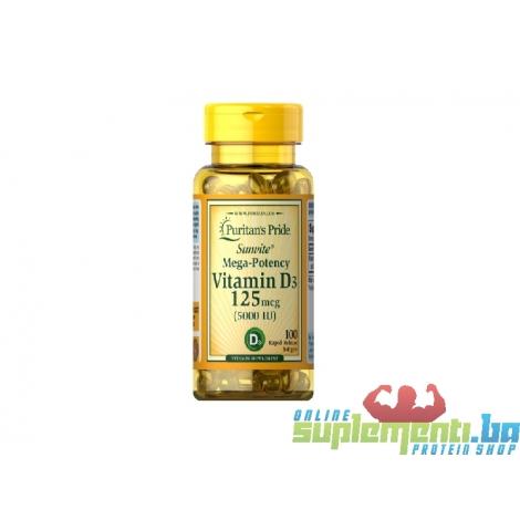 Puritan's Pride Vitamin D3 5.000IU (100tab))